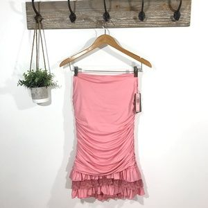 NWT JUICY COUTURE Ruffle Maillot Swim Dress XL